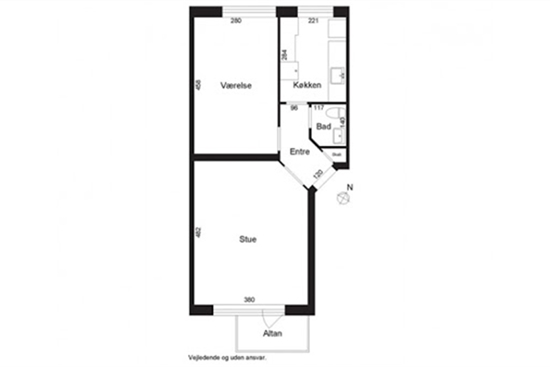 55 m2 andelsbolig i Vanløse til salg